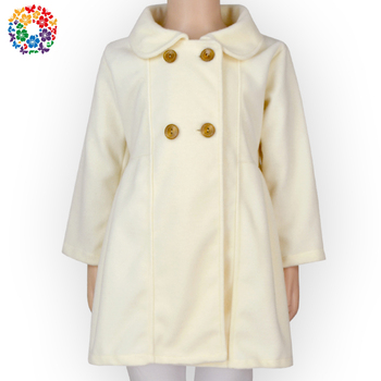 Magic Show European Style Winter Jackets White Children Clothes Long Sleeve Woolen Girl Winter Jacket