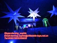 LED Inflatable Stars Wireless Stage Decoration Prop Multi color Nightclub