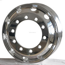 22.5x8.25 forged aluminum truck wheel rim of machine/polish finish surface