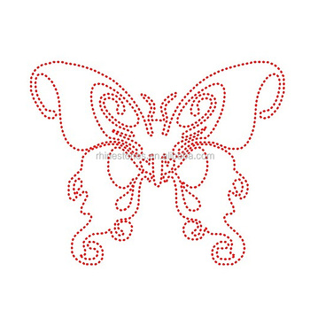 0402W china supplier hot fix butterfly motif;transfer rhinestone designs;iron-on rhinestone designs butterfly motif