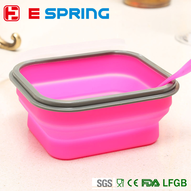 Thermal insulation collapsible microwave silicone food container