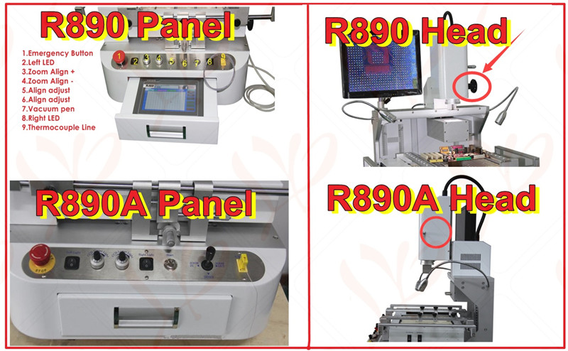 LY-R890A ccd camera bga rework station with CCD alignment system