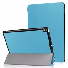 three-fold pu leather smart tablet case high quality accessory case for ipad 10.5 inch