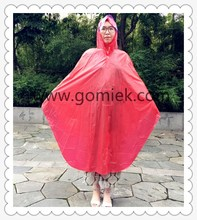 100% waterproof outdoor uniform pearly-lustre raincoat for bicycle with OEM logo poncho
