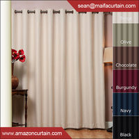 Luxurious solid Print Grommet Curtain Panels Window Drapes