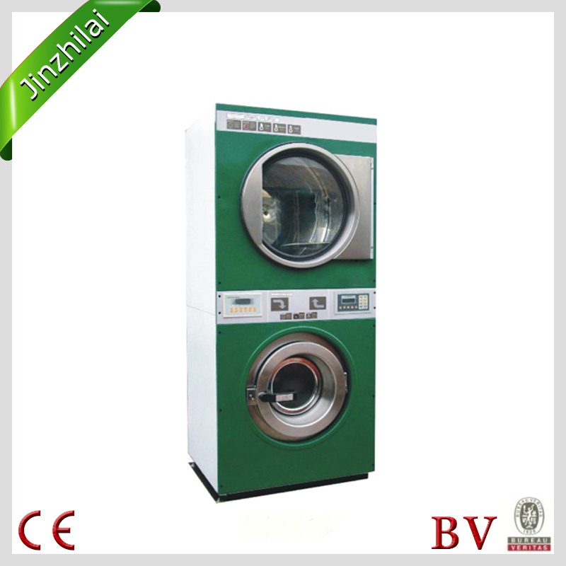 Commercial Double-deck Twin Tub laundry washer and dryer all in one machine for sale(CE&BV ISO)
