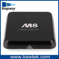 Best price M8 H.265 4k*2k DLNA Miracast Airplay OTA 2G 8G bluetooth 4.0 wifi android 4.4 Amlogic S802 quad cord smart tv box