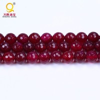 10 mm faceted semi precious round stone beads