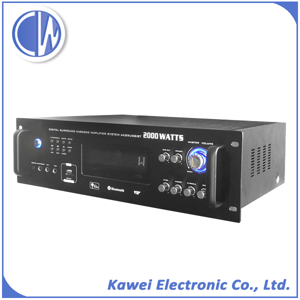 Professional Sound system low noise and low distortion echo power mixer amplifier