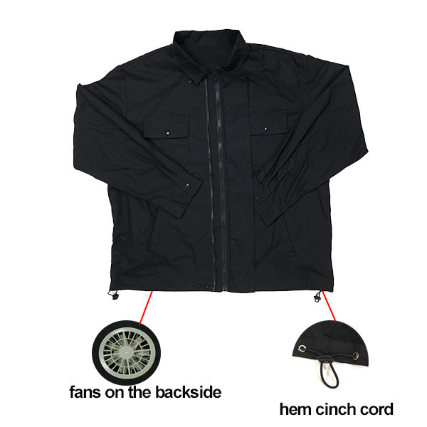 special function fans cooing clothing team wear total work wear for summer hot day