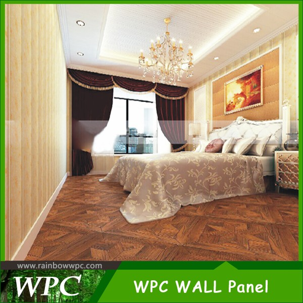 2016 hot sale wood plastic composite wall panel wpc cladding decorative building materials faux tile pvc wall ceiling