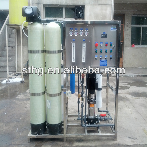 Fully Automatic a valve two tanks pre-treatment 250LPH ro water treatment