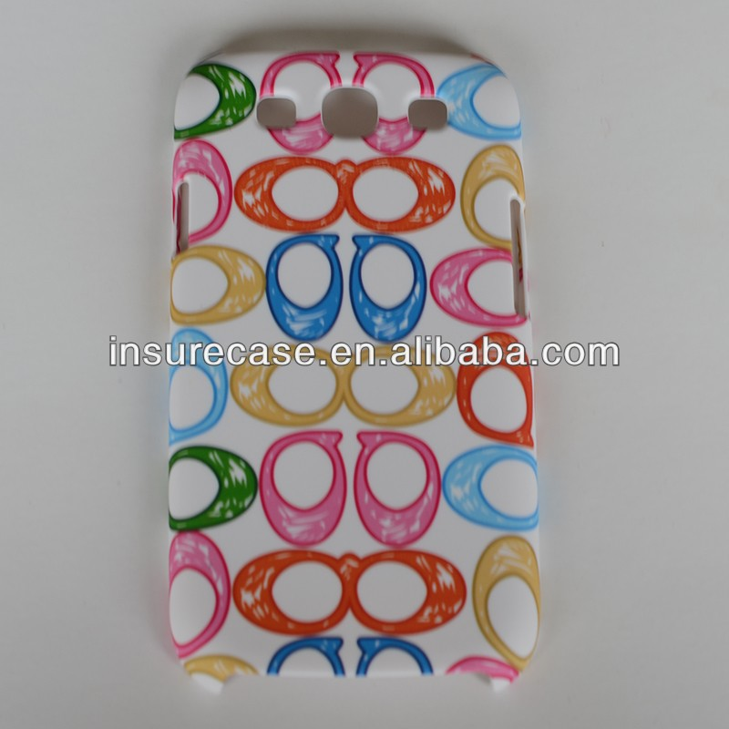 Design mobile phone back cover,Rubberized finished colorful circles design mobile phone back cover for Samsung Galaxy S3 I9300