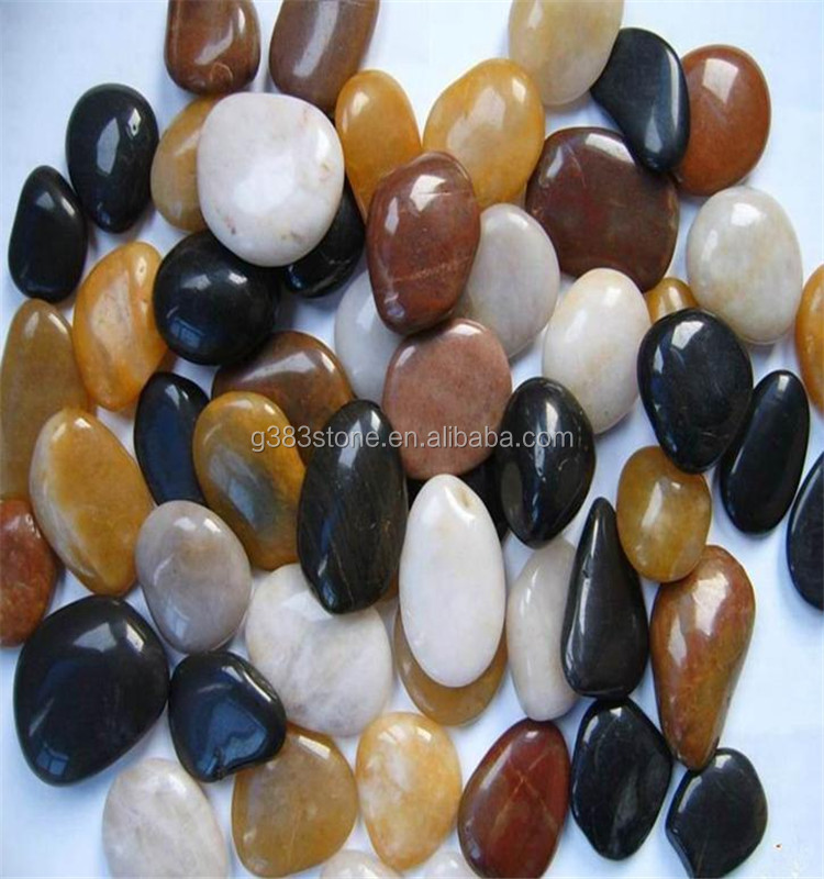 Chinese Supply Swimming Pool Design mixed color polished pebble