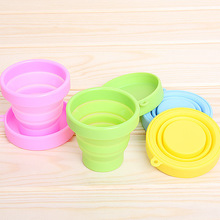 Promotional collapsible cup with silicone cup lid,hot sale Portable funny bulk coffee mugs