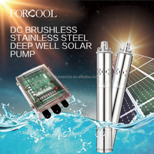 Brushless solar water pump/DC submersible pump/24v,36v,48v,72v