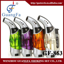 windproof good quality blue flame torch lighter with display box GF-863