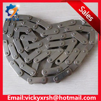 Double pitch stainless steel roller chain with small roller