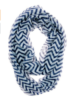 Fashion navy chevron infinity Scarf for women In Stock