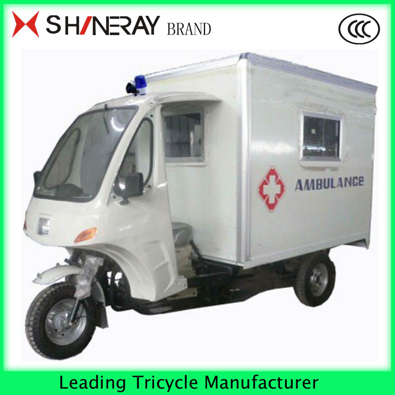 Ambulance tricycle with 3 big wheels cheap sale in china