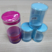 2016 New on Market Dongguan Manufacturer PVC Cylinder Package Box For Make Up Packaging
