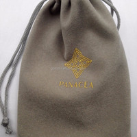 Custom Print Velvet Drawstring Bag With