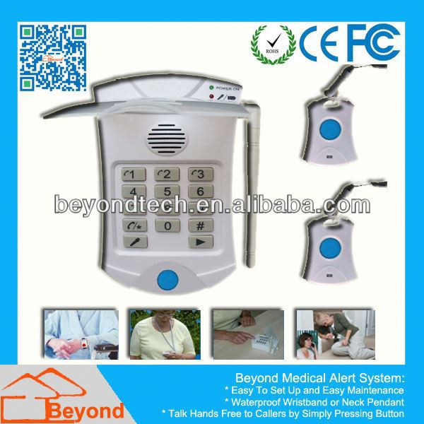 Emergency Aid House Medical Alarm Device with CE FCC RoHS Approved
