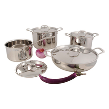 copper tri-ply prestige clad induction cooker cookware pot set
