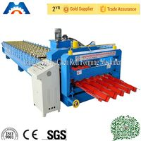 Botou Roofing Glazed Tile Cold Roll Forming Machine for Metal Building