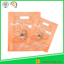 Orange Color HDPE Die Cut Plastic Carrier Bag
