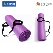 Extra Thick and Long Comfort Foam Yoga Exercise Mat with Carrying Strap