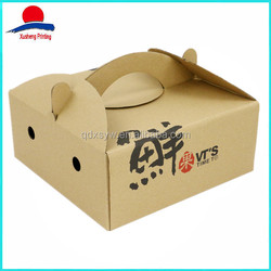 Hot Sale Fruit And Vegetable Box, Brown Kraft Fruit Paper Box