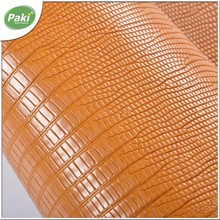 1.1mm stock embossed PU synthetic lizard leather for furniture/car seat