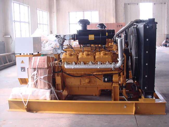 four stroke water cooled 6 cylinder 200kw natural gas generator 12V138DT