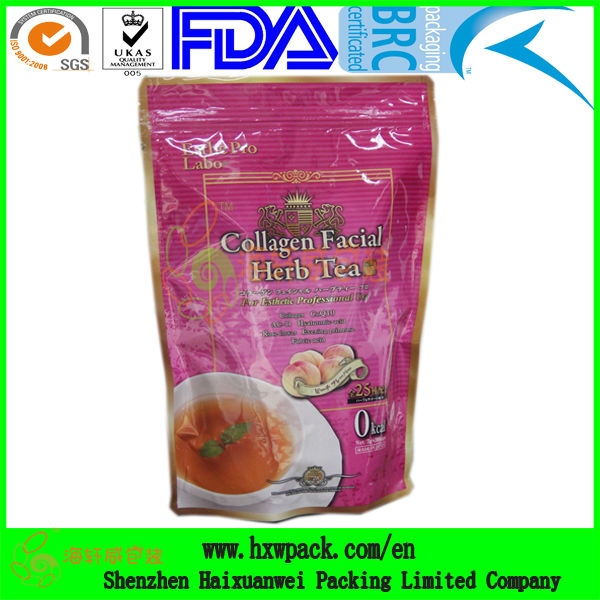 Top quality plastic resealable empty tea bags for sale