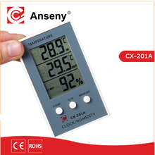 New temperature sensor LCD Digital Alarm Clock temperature thermometer Indoor and outdoor temperature and humidity meter