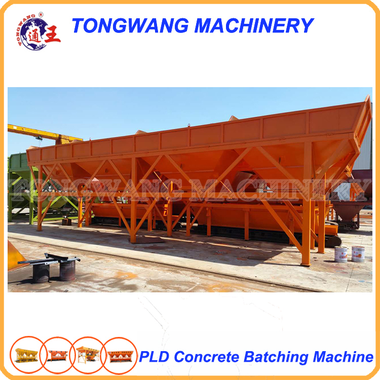 ISO big electrical PLD2400 concrete batching machine