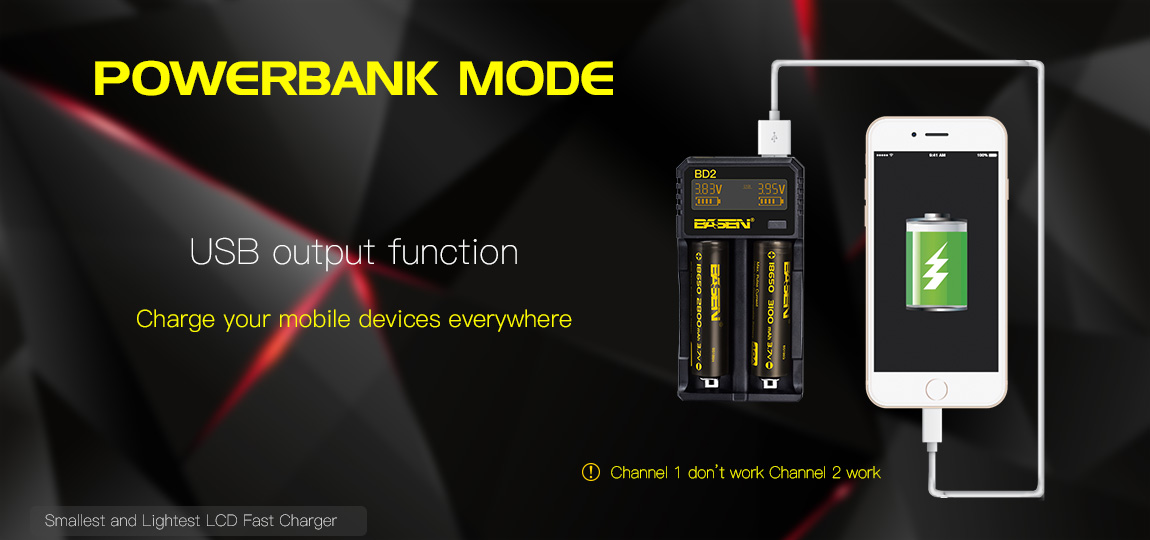 new Basen BD2 18650 battery charger LED universal portable 3.6/3.7v 0.5A 1A 2A digital charger