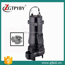 vertical submerged centrifugal pump WQK cutting sewage pump electric submersible water pump