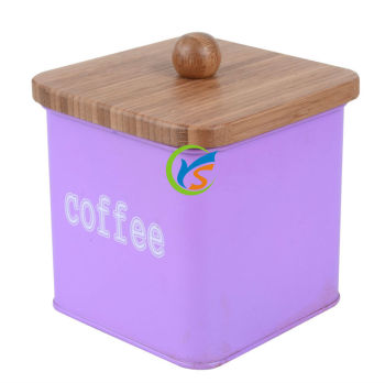 wholesale Galvanized metal storage coffee container
