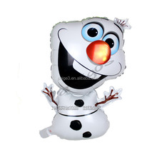 2017 new design Frozen olaf inflatable helium foil balloon cartoon Character balloons for kids