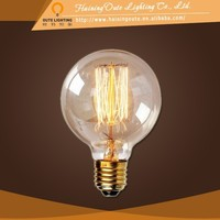 NIce shape cages bulb table lamp copper base light