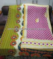 Kantha Stitched Quilt Throws / Hand Knitted Quilts