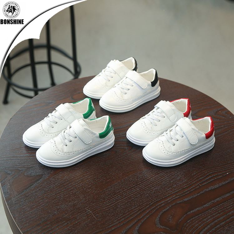 Children leisure leather sports small white shoes wholesale