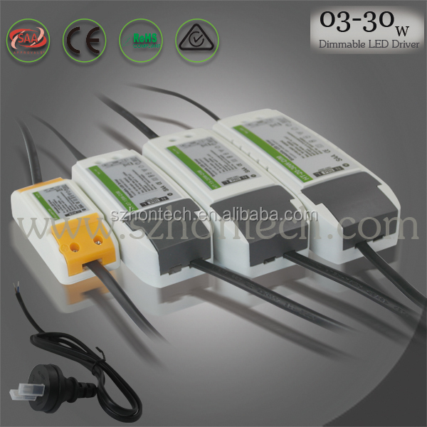 led driver power supply 25-42V output 300ma led driver with CE ROHS SAA certificate 12w dimmable led driver