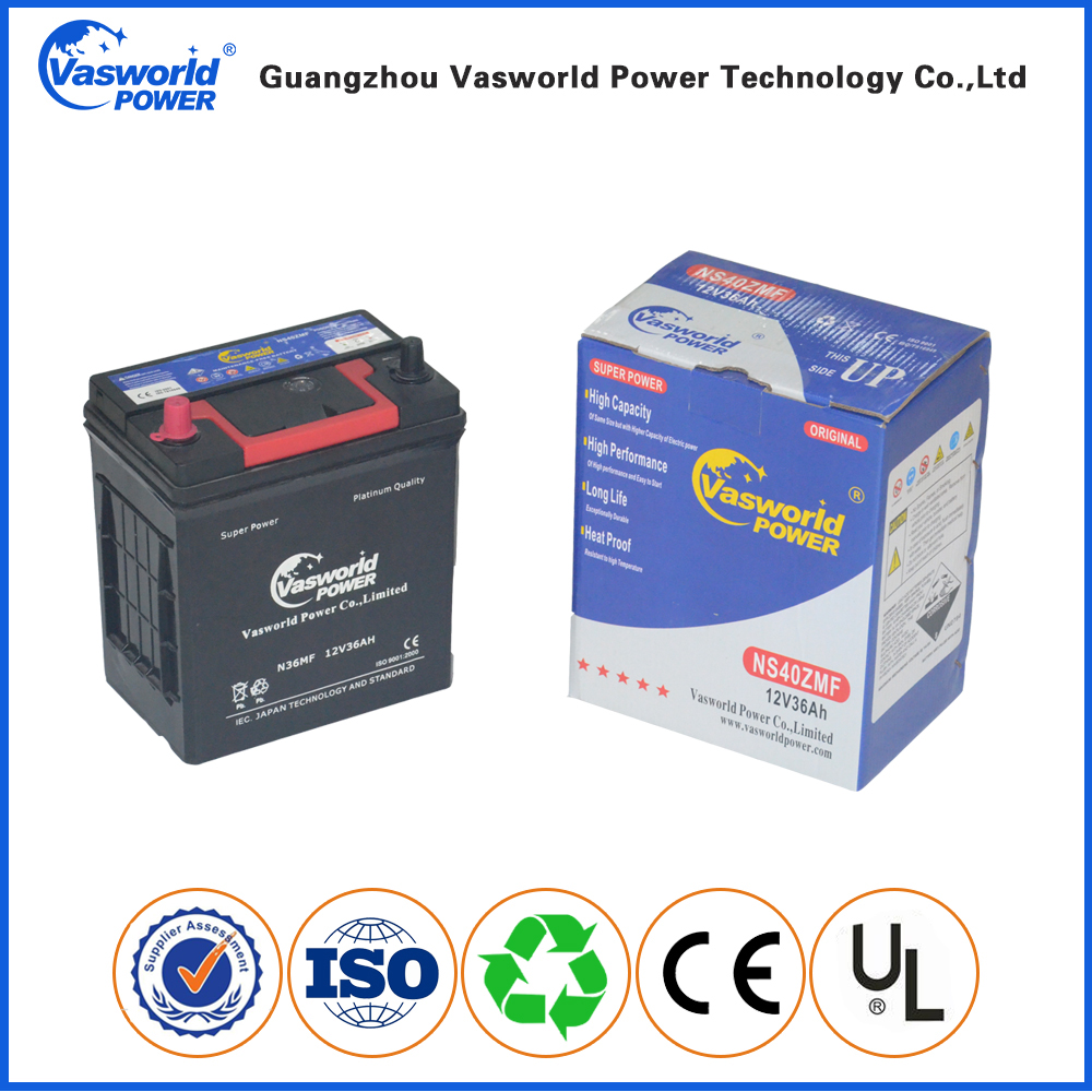 Hot Sale Online 12V 36Ah Maintenance Free Car Battery