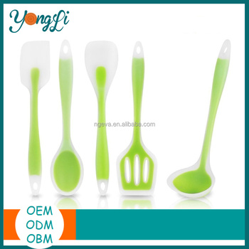 Hot Selling Silicone Spatula Utensil Set - 5 Pieces
