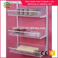 Top quality metal cabinet shelf brackets for clothes hanger