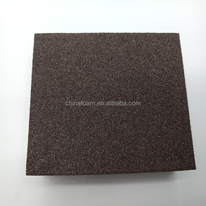 brown silicon carbide sponge abrasive sanding block for drywall polishing