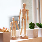"8"" Wooden Mannequin Joint Mankin 1pc for Students Arts Class"
